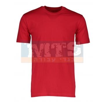 חולצת טריקו 100% כותנה צבע אדום