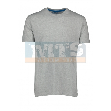 חולצת טריקו 100% כותנה צבע אפור מלנג'