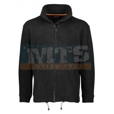 מעיל פליז חד צדדי שחור/כחול