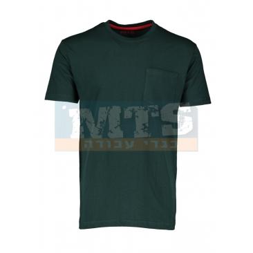 חולצת טריקו 100% כותנה צבע ירוק