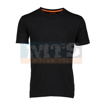 חולצת טריקו 100% כותנה צבע שחור