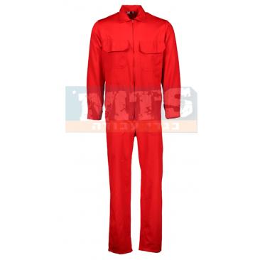 סרבל עבודה שרוול ארוך צבע אדום