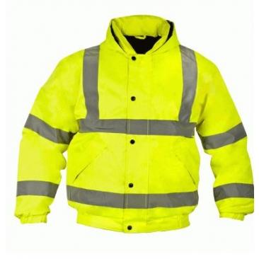 מעיל מרופד צהוב זוהר
